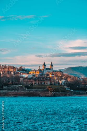 San Sebastián, Guipúzcoa / Spain »; February 2, 2020: Miramar Palace from the other side of the Bay