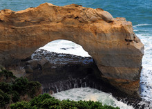 The Arch Rock Formation At Great Ocean Road Victoria Australia