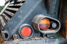 Closeup Of Tank Rear Lamps