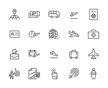 Set Of Airport Related Vector ...