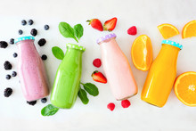 Assorted Healthy Smoothies In ...