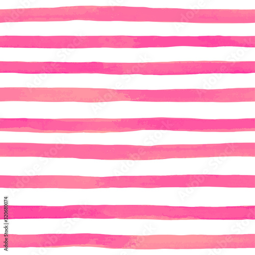 Tapeta różowa  beautiful-seamless-pattern-with-pink-watercolor-stripes-hand-painted-brush-strokes-striped-background-vector-illustration