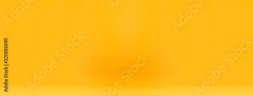 Fototapeta Smooth simple yellow gradient yellow abstract banner bakground obraz