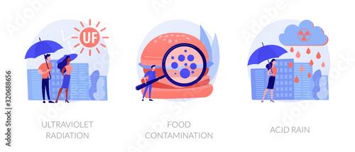 Radioactive effect, Earth atmosphere pollution, damage to human health Tapéta, Fotótapéta