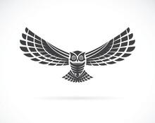 Vector Of An Owl Design On A W...