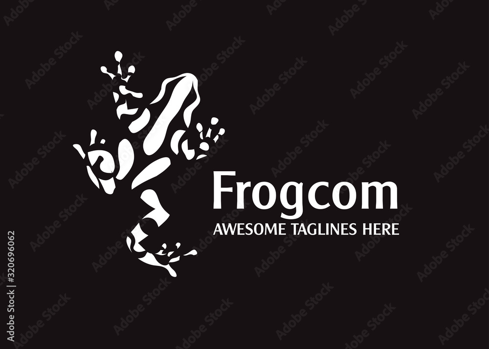 Fototapeta abstract simple frog vector illustration logo concept