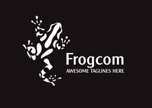 Abstract Simple Frog Vector Illustration Logo Concept