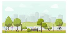 Public City Park Landscape Fla...