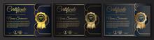 Premium Golden Black Certifica...