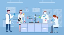Scientists In Lab. Scientist P...