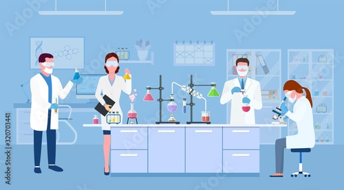 Scientists in lab Canvas Print