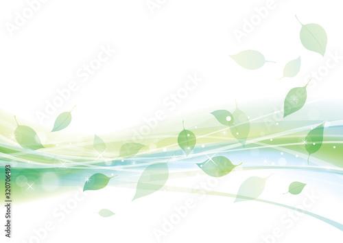 葉 新緑 舞う 背景 緑 Fotobehang