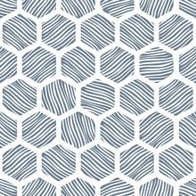 Seamless Honeycomb Pattern Wit...