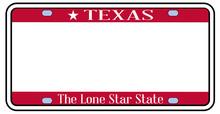 BlankTexas State License Plate