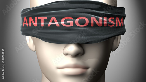 Photo Antagonism can make things harder to see or makes us blind to the reality - pict