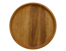 Empty Wooden Dish Isolated On ...