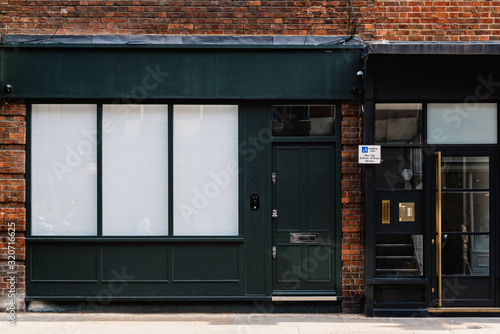 Obraz na płótnie Vintage classic Shop Boutique Storefront with Place for Name