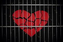 Broken Red Heart Paper Cutout ...