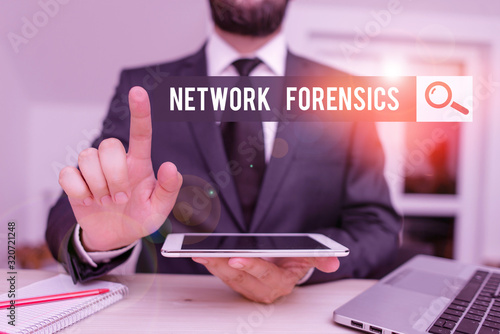 Conceptual hand writing showing Network Forensics Slika na platnu