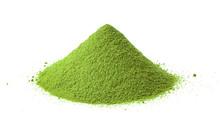Green Powder Heap On White Background