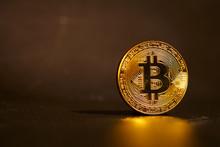 Golden Bitcoin, Conceptual Ima...
