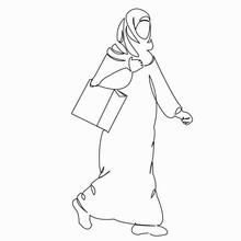 Muslim Woman Goes Shopping