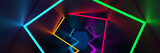 Fototapeta Abstract - 3d rendering background, glowing lines, neon lights, abstract psychedelic background, ultraviolet, vibrant colors