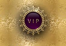 Vip Purple Label With Round Go...