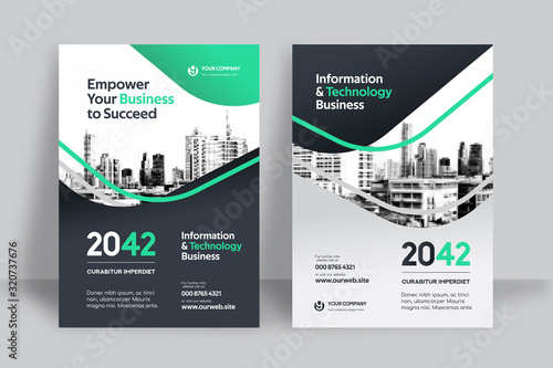 Fotografia City Background Business Book Cover Design Template
