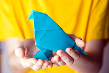 Origami Bird Made Of Colored P...