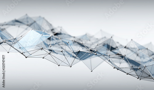 Network and connection concept. Plexus structure model. © Photocreo Bednarek