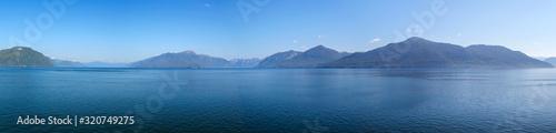 Wonderful panoramic view from Inside Passage / British Columbia Canada Canvas Print