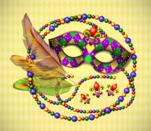 Masquerade Mask, Beads, Colorf...
