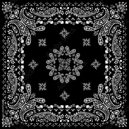 Photo Paisley textile pattern vector illustration for bandana , scarf etc