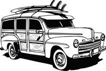 Classic Woodie Vector Illustra...
