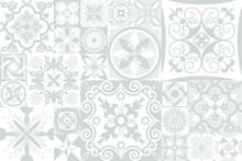 Vintage Grey Tiles Intricate D...