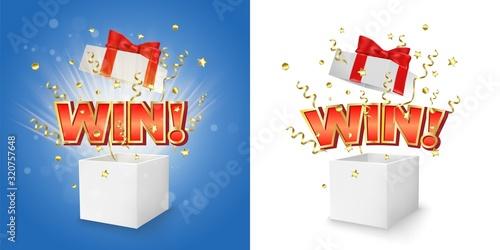 Winner box vector concept for banner, poster Fototapete
