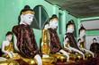 Leinwanddruck Bild - Shwedagon Pagoda Temple in Yangon, Myanmar, Burma