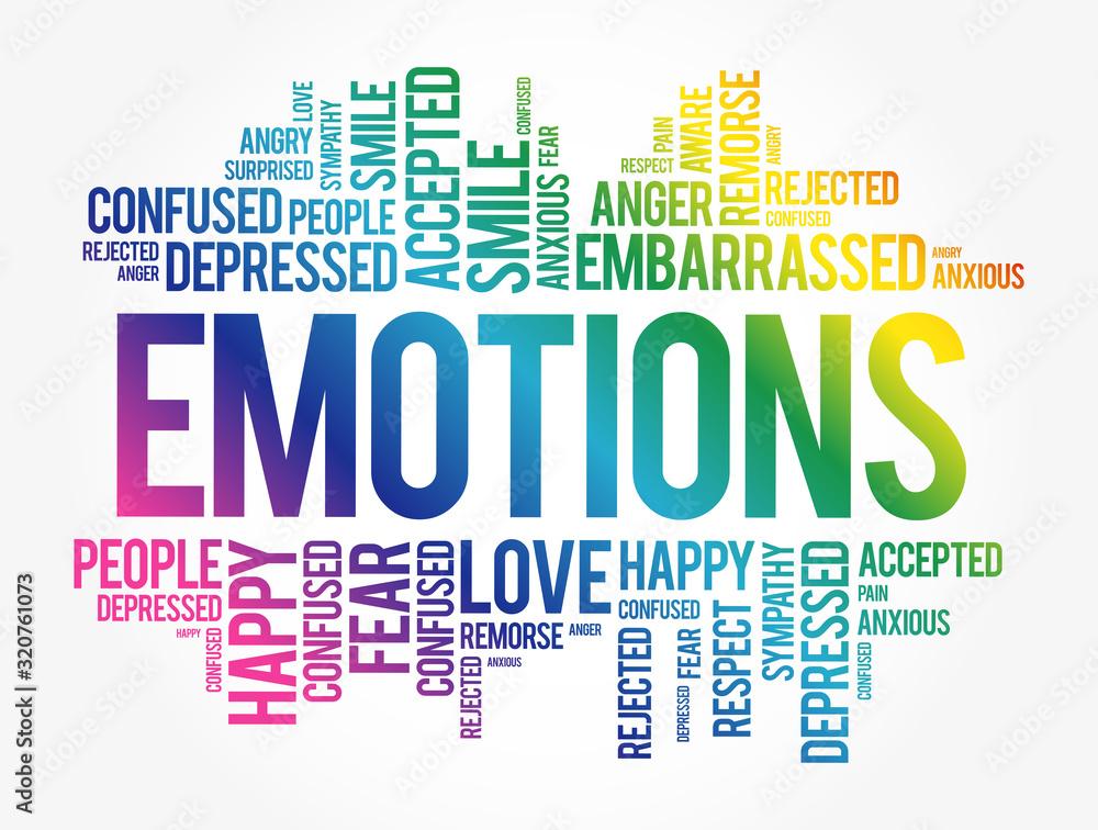 Fototapeta Emotions word cloud collage , social concept background