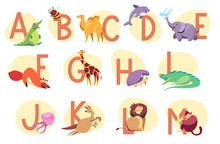 Alphabet With Exotic Animals, ...