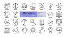 Vector Set Of Core Values Icon...