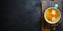 Coffee Drink And Coffee Grain ...