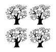 The family tree genealogical silhouette