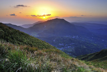 Sunset Of Yangmingshan National Park