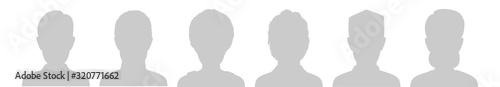 Profile Placeholder image. Gray silhouette no photo Fototapet