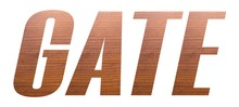 GATE Word With Brown Wooden Te...