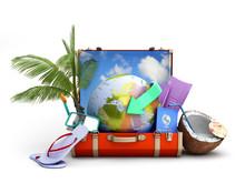 Modern Summer Travel Concept S...