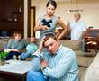 Leinwandbild Motiv Woman scolding her husband
