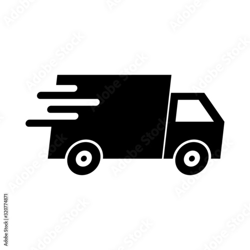 Delivery car shipping icon isolated on white background Canvas Print