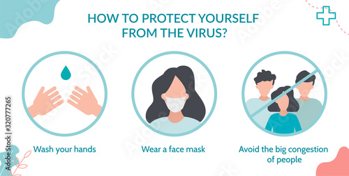 Photo How to protect yourself from the virus? Wash your hands, wear a mask and avoid crowds